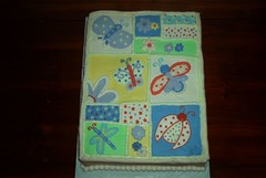 Baby Quilt Shower Cake