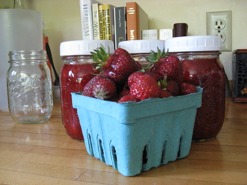 Strawberries and Freezer Jam