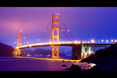 The Golden Gate (Kanaka Menehune) Tags: ocean sanfrancisco california longexposure fog night coast interesting explore goldengatebridge ggb