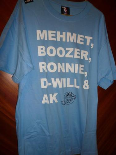 My new Utah Jazz's T-shirt - front