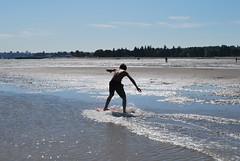 skimboarding @spanish banks (sakura123) Tags: beach vancouver skimboarding