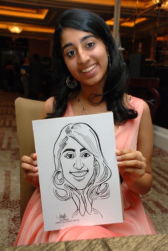caricature live sketching for wedding dinner 120708  - 37