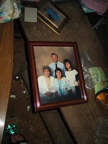Sad family photo