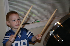 Kade on the drums