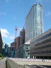 View from the Highwalk (secretlondon123) Tags: street city london point place fore cityoflondon citypoint ropemaker ropemakerplace forestreettelephoneexchange moorgateexchange moorgatete
