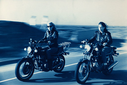 Laura & Margie - biker chicks