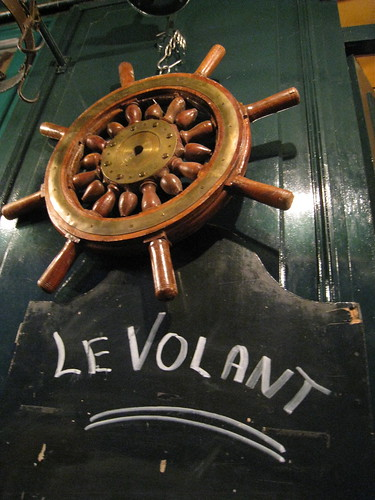 """Le Volant"", restaurant rue Beatrix Dussane, Paris XV."