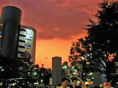 7/27 錦糸町の夕焼け