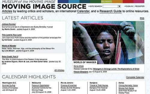 Image of the Moving Image Source web publication via the AMMI