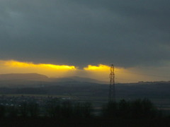 Thunderstorm Sunset (jenniferpinkdesigns) Tags: sunset scotland fife photograph thunderstorm