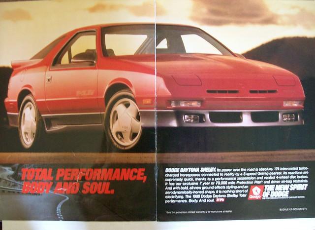 car magazine dodge 1989 daytona carads magazineads dodgedaytonaturboz daytonaturboz
