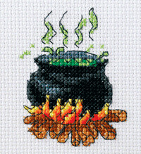 free halloween cross stitch witch
