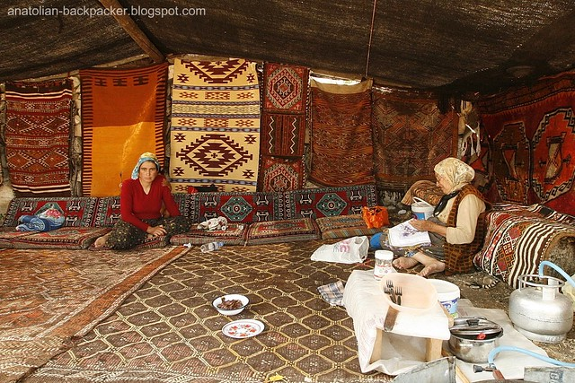 Life In A Turkish Nomad Tent At Ancient City Diocaesarea