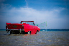 Mooring Not Required ((  Jennifer  )) Tags: pentax michigan amphicar torchlake antrimcounty