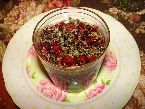 rose tea seeping