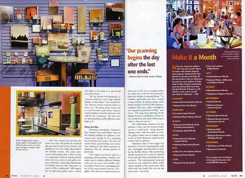 Poppy article in Niche Magazine - spread #2