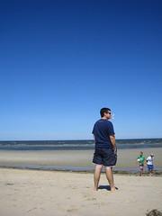 Kevin enjoying the view (cathysull) Tags: beach kevin capecod crosbybeach