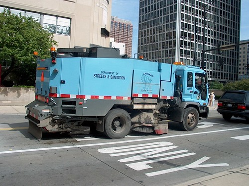 City of Chicago Department of Streets and Sanitation street sweeper. Chicago Illinois. September 2006. by Eddie from Chicago