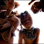 in a Himba village, Namibia