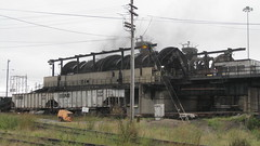 Coal unloader in action, Lambert's point (wrightrkuk) Tags: coal railyard norfolksouthernrailroad lambertspoint