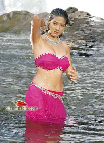 Photo of Lakshmi Rai in strapless bra-top