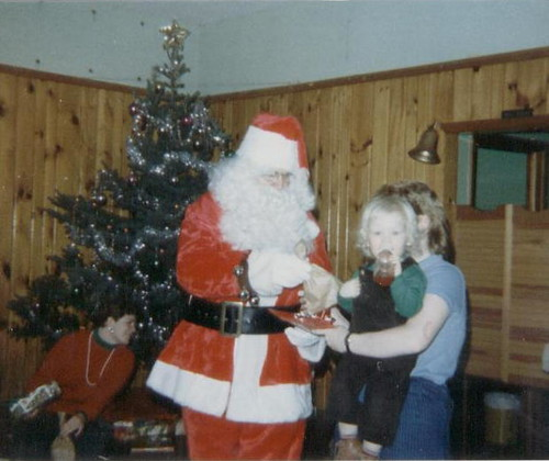 Christmas Party at the Moquah Town Hall, 1985.