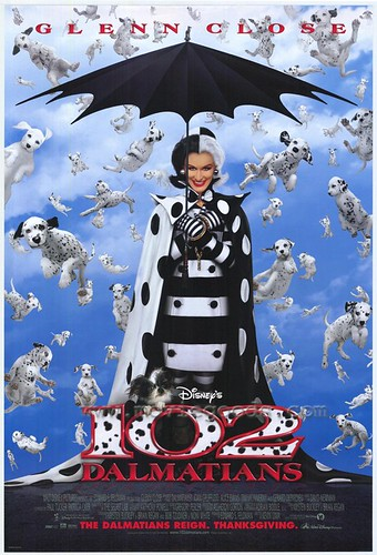 perhaps in order to make up for a truly awful film, 102 Dalmatians is