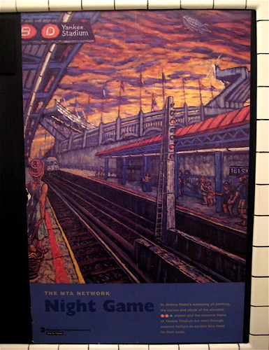 Night Game - New York Transit Museum Poster