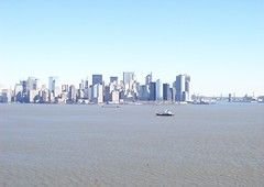 NY Skyline from Statue of Liberty (22nyharborparks) Tags: park york nyc newyorkcity usa ny statue america freedom harbor nationalpark ship ellis statueofliberty patriot patriotism immigration immigrant ellisisland nyharbor newyorklandmark