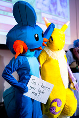 So I Herd You Leik Me? (yeshayden) Tags: cosplay pokemon digimon mudkip renamon manifest2008