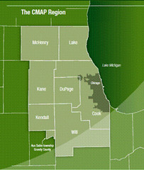 """Chicagoland"" is much bigger than Chicago (by: CMAP)"