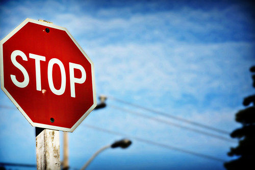 Stop Sign In Front Of My House by e453753.