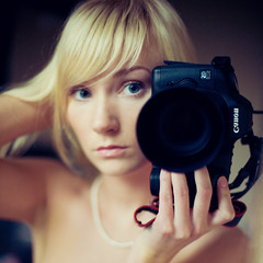 Masha's selfportrait (Geshpanets) Tags: selfportrait love girl beauty 50mm eyes girlfriend 5d lightroom blondy 5014 canonef50mmf14usm russiangirl 100000faces