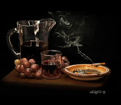 Bacco&Tabacco (- Gigapix -) Tags: stilllife lightpainting glass bread bravo wine cigarette smoke explore chapeau ashtray uva grape luce vino bicchiere bestofflickr vizi fumo sigaretta naturamorta brocca posacenere alhassa agropoli artisticexpression 50faves 10faves imagepoetry 35faves bej 25faves mywinners abigfave exploregroup citritgroup exemplaryshots ceneriera goldstaraward dragongoldaward gigapix ilovemypics multimegashot qualitypixels