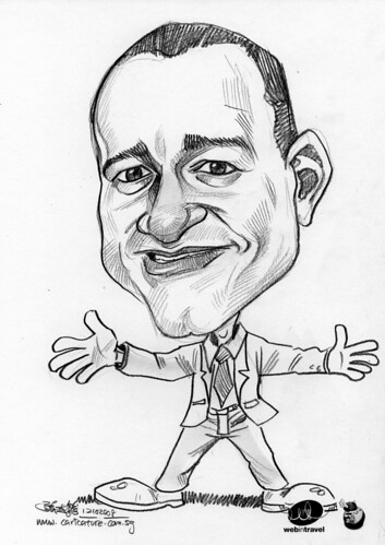 Caricatures Web in Travel 2008 John Mims