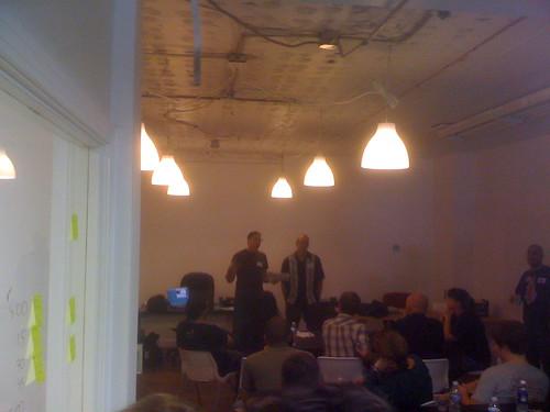 Dan Workman & Ross Wells presenting at BandCamp