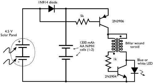 Night Joule Thief also Free Energy Circuits moreover Turn On Off 220v Electric Appliances By together with 3 Led Joule Thief Schematic moreover Capacitor Resistor Clock. on led joule thief circuits