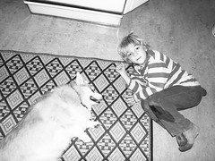 katie+jacob. (stephiblu) Tags: boy dog kid floor jacob katie nj montclair