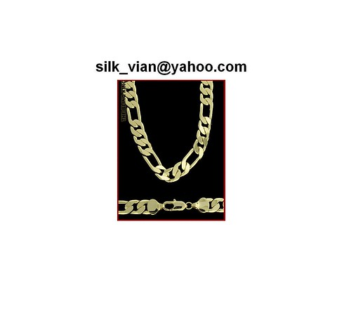 30 10mm Mens 18k Gold plated Figaro chain bling 18ct