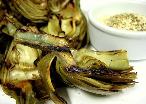 Grilled Artichokes - Alcauciles A La Parrilla