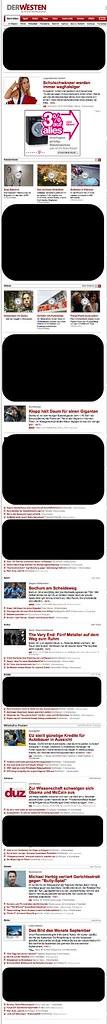 Startseite DerWesten (29.10.2008 um 16:48 Uhr) - ohne dpa-Inhalte