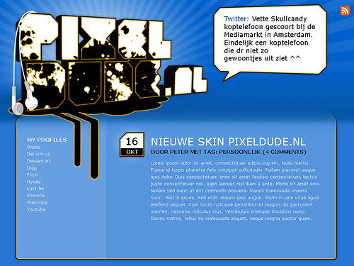 New design Pixeldude.nl