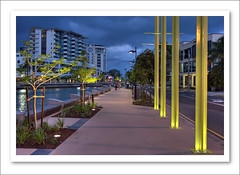 Cornmeal Creek Promenade-5464-HDR (Barbara J H) Tags: australia qld nightphoto hdr sunshinecoast maroochydore barbarajh countdownto2009yourdiary australiannightimages cornmealcreekpromenade
