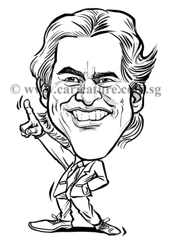 Celebrity caricatures - Jim Carrey ink watermark