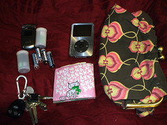 what's in my bag? (sarah (goldstone) cloyd) Tags: film keys ipod phone wallet purse whatsinmybag batteries essentials