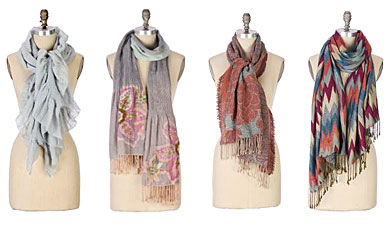 Scarves from Anthropologie