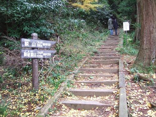 本殿裏山談山への入り口