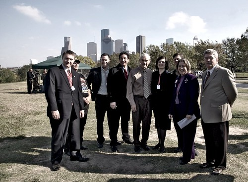 "Ron Paul's support team at ""Campaign for Liberty""  in Houston Texas."