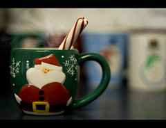 Hot Chocolate and Peppermint Sticks (believer9) Tags: santa christmas food hot coffee sticks drink chocolate mug cocoa peppermint steaming
