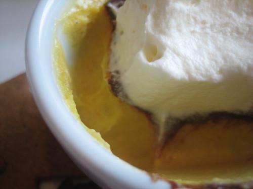 Rialto's pumpkin custard Thanksgiving dessert